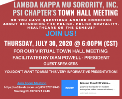 LKM Psi Chapter Town Hall