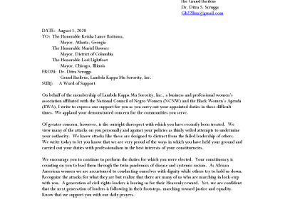 LKM Grand Basileus Letter to Mayors August 2020